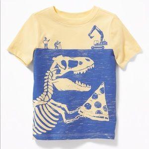 NWT Old Navy Yellow Blue Dinosaur Top 18-24mo